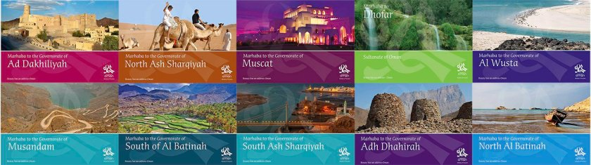 Oman Ministry of Tourism Booklets – I was commissioned to produce – Images, Maps and Text in Arabic as well as English