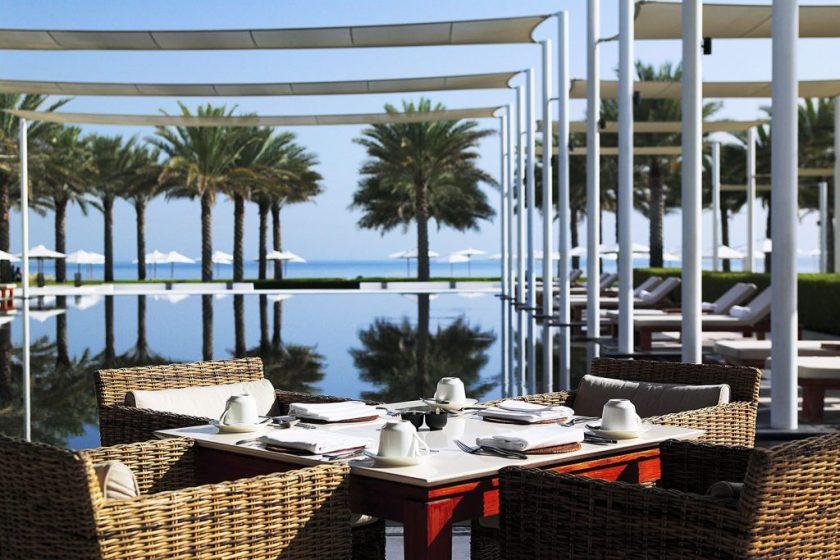 Chedi Muscat Cabana poolside