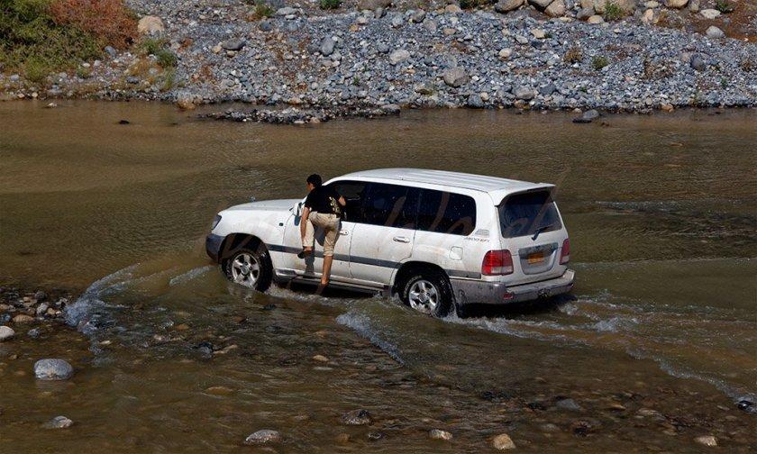 Crossing a Flooded Wadi Oman