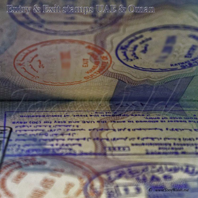 Visa Entry & Exit stamps UAE & Oman