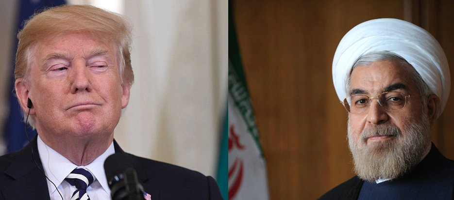 Donald Trump and Hassan Rouhani - AP