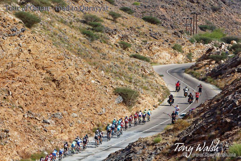 Tour of Oman - road to Qurayyat