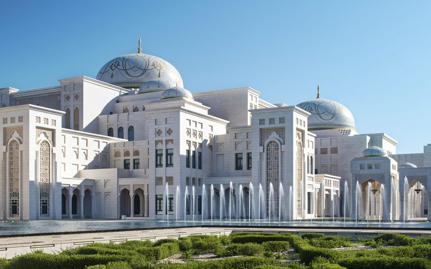 Exterior of Qasr Al Watan courtesy Ministry of Presidential Affairs UAE