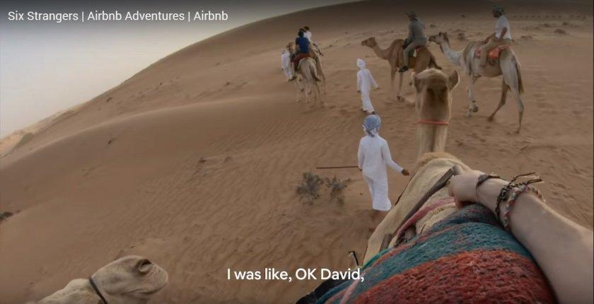 David camel riding Airbnb Adventures