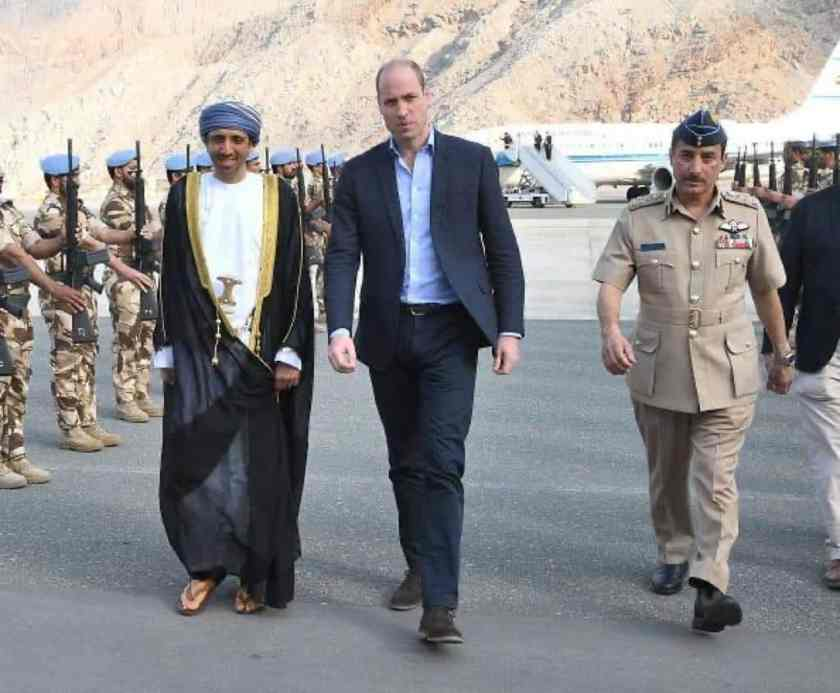 Prince William and Sayyid Ibrahim bin Said al Busaidy, Governor of Musandam