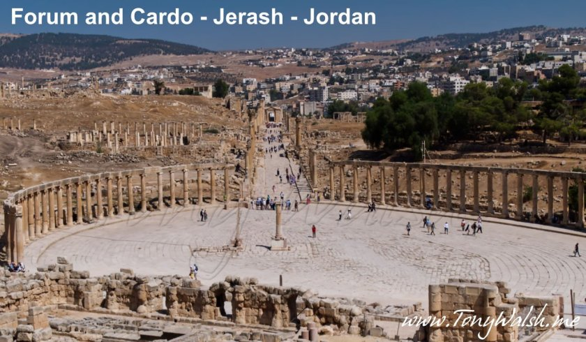 Forum and Cardo - Jerash Jordan