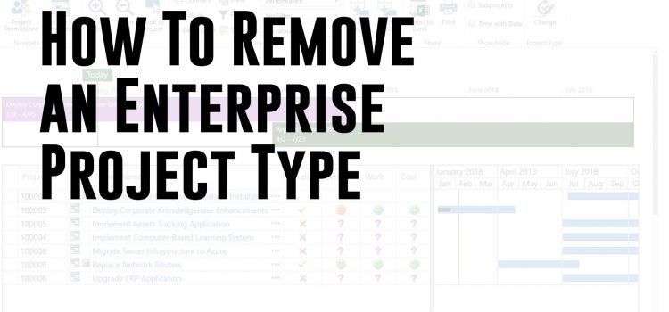 How To Remove an Enterprise Project Type (Microsoft