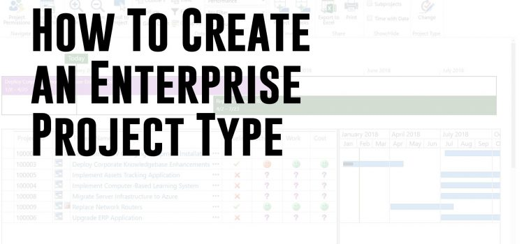 How To Create an Enterprise Project Type (Microsoft