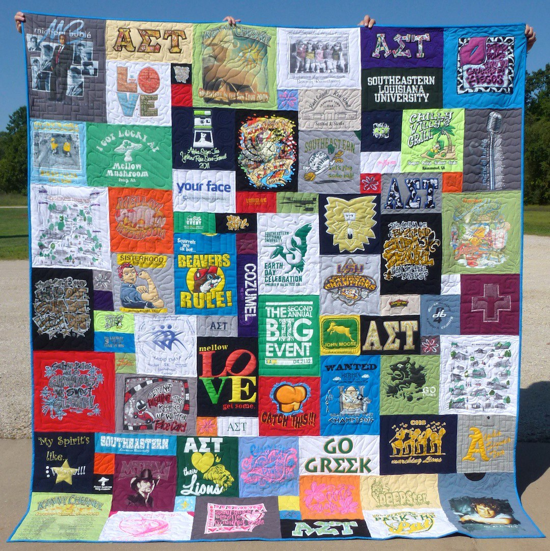 T Shirt Quilt Pattern Different Size Blocks