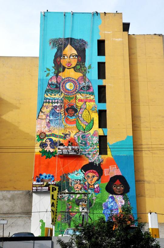 Mural de Nosotras Estamos En La Calle - Lima Peru 13
