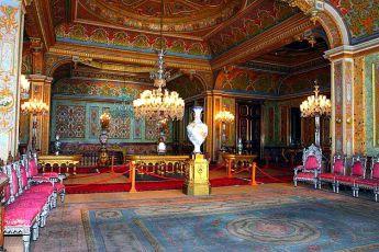 Le palais de Beylerbeyi vu de l'intérieur.