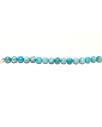Turquoise bracelet base with silver accent