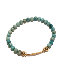 Long Bar Turquoise gold twist