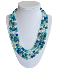 Classic blue turquoise necklace