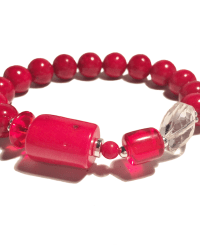 Classic Red Silver Bracelet