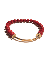 Red Bamboo Coral with Gold Bar