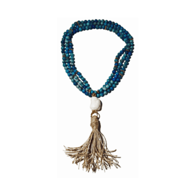 Briland Raffia Turquoise Necklace