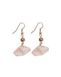 Geo-Crystal Gold Earrings