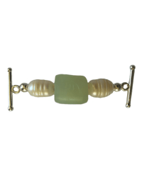 Jade Green and Pearl Toggle Accent