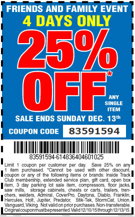 Harbour Freight Coupons 25 Percent Off