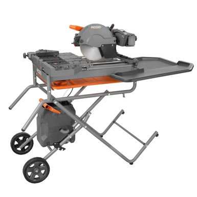 rigid 10 wet tile saw with gravity rise stand 4091 tool box buzz