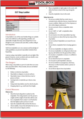 step ladder toolbox talk