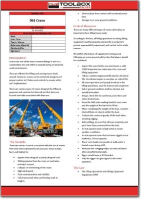 crane toolbox talk
