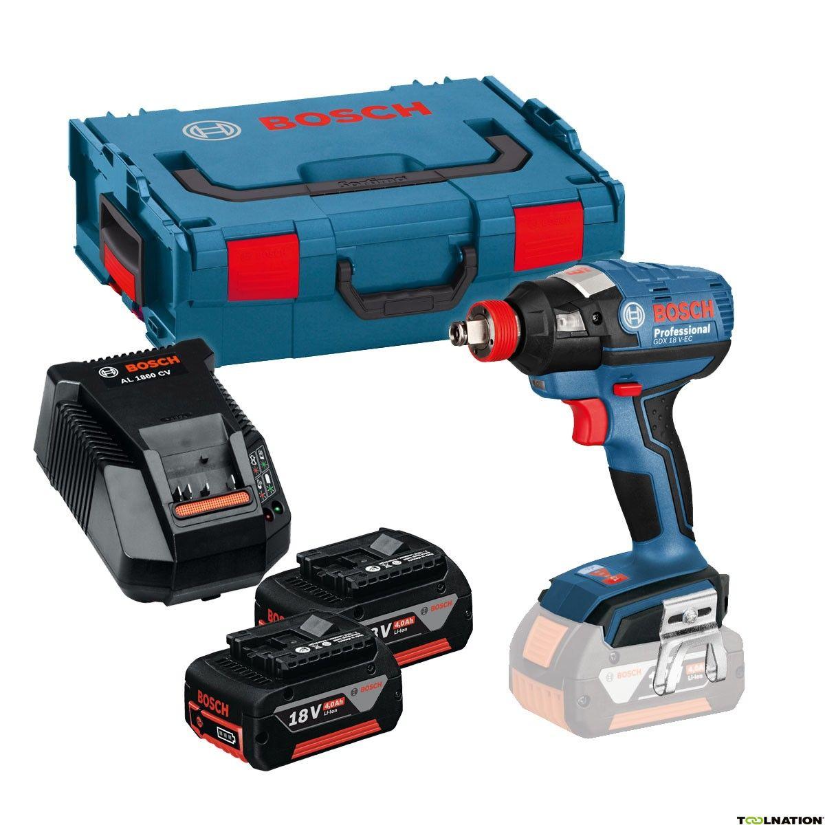 Bosch GDX18V-EC slagmoer/slagschroefmachine 18 Volt 4.0 AH Li-ion in L-Boxx 06019B9100 + 5 jaar dealer garantie!