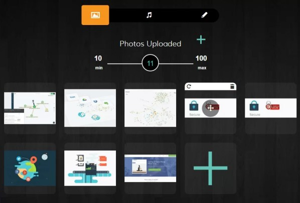 Evver, slideshow da immagini in due minuti