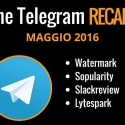 telegram recap maggio 2016