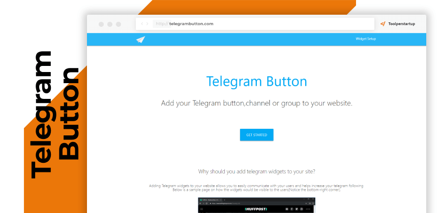 Collegare Telegram al sito web, Telegram Button