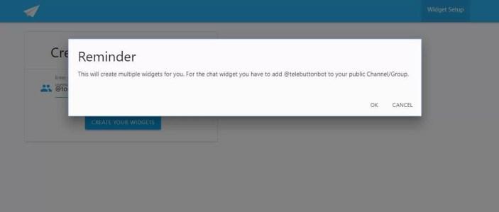 telegram button aggiungi il bot