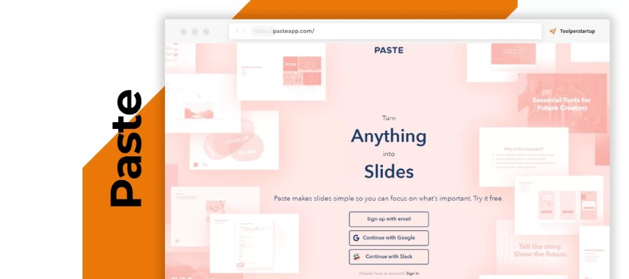 Paste crea splendide slide