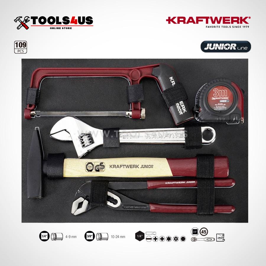 1043 KRAFTWERK maleta aluminio herramientas completo 109 piezas 02 - Maleta Aluminio compacta con herramientas (109 piezas)