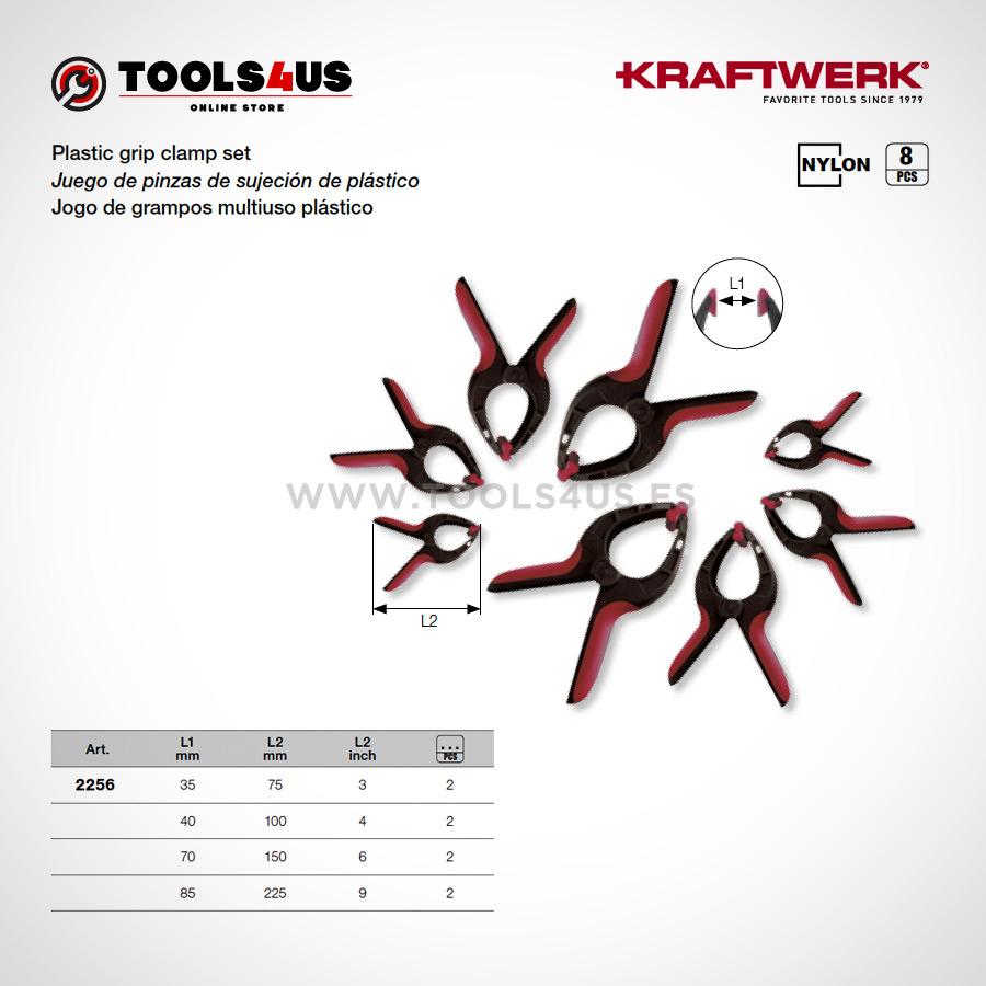 2256 KRAFTWERK herramientas taller barcelona espana Juego pinzas sujecion plastico 02 - Juego de pinzas de sujeción de plástico