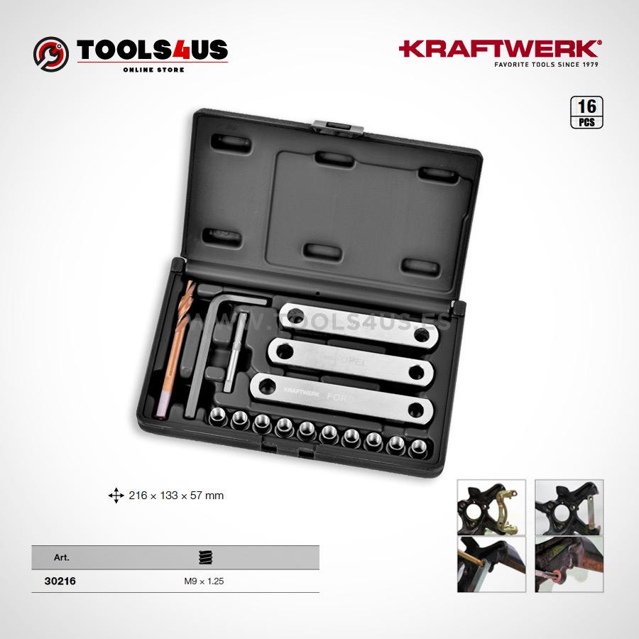 30216 KRAFTWERK herramientas taller barcelona Kit reparacion de roscas para soporte de pinza de frenos 01 - Kit reparación de roscas para soporte de pinza de frenos