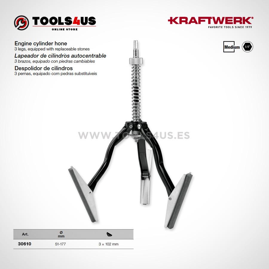 30610 KRAFTWERK herramientas taller barcelona Lapeador de cilindros autocentrable 01 - Lapeador de cilindros autocentrable equipado.