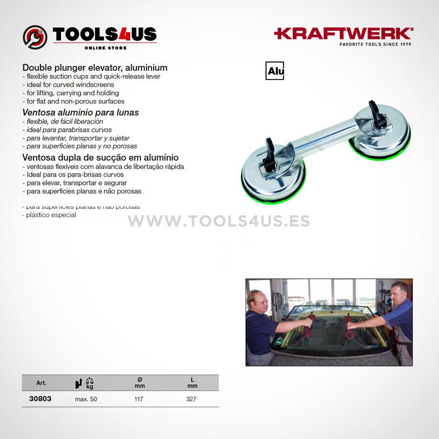 30803 KRAFTWERK herramientas taller barcelona espana Ventosa para lunas cristales parabrisas aluminio 02 - Ventosa para lunas, cristales y parabrisas en Aluminio