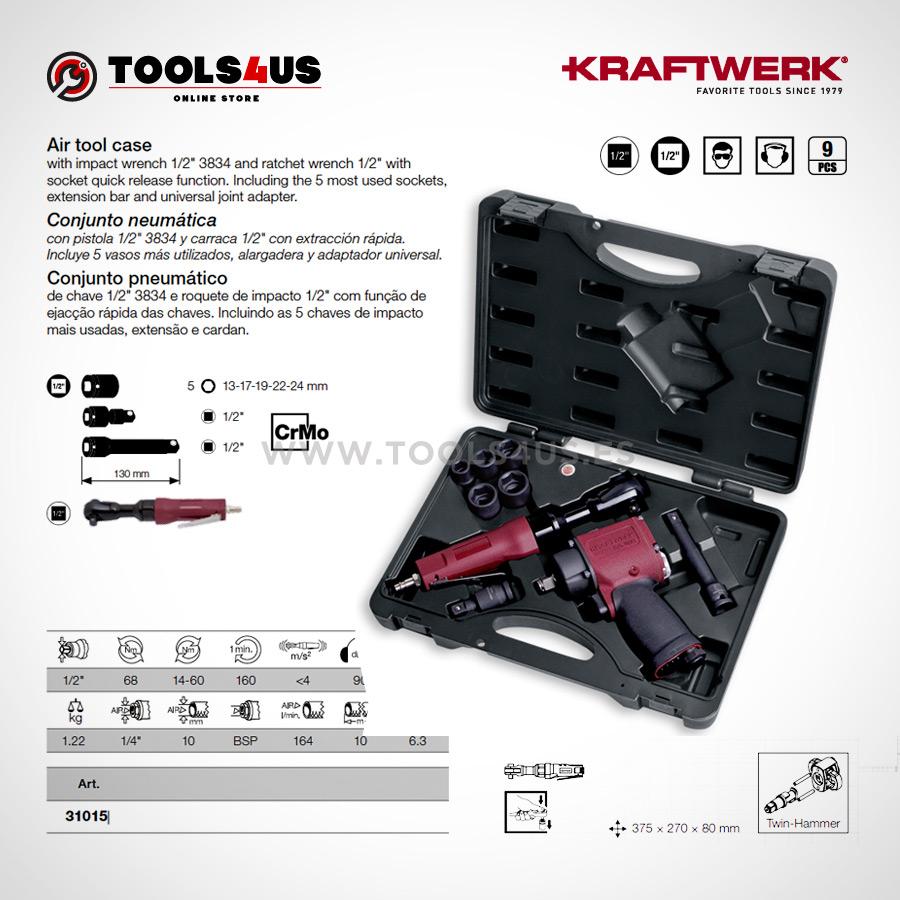 31015 KRAFTWERK herramientas taller barcelona espana Conjunto pistola y carraca neumatica 02 - Conjunto pistola y carraca neumática