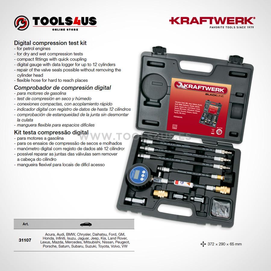 31107 KRAFTWERK herramientas taller barcelona espana Comprobador compresion digital Motores Gasolina 02 - Comprobador de compresión digital (Motores Gasolina)