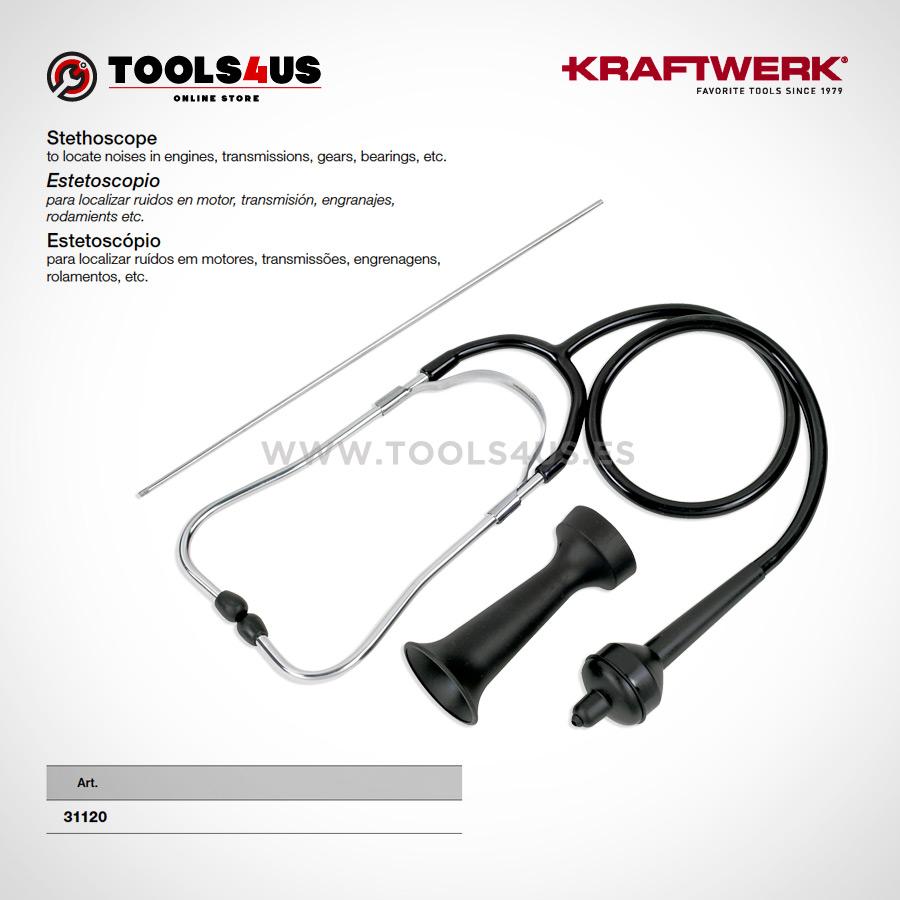 31120 KRAFTWERK herramientas taller barcelona espana Estetoscopio analogico diagnosis automocion 01 - Estetoscopio analógico