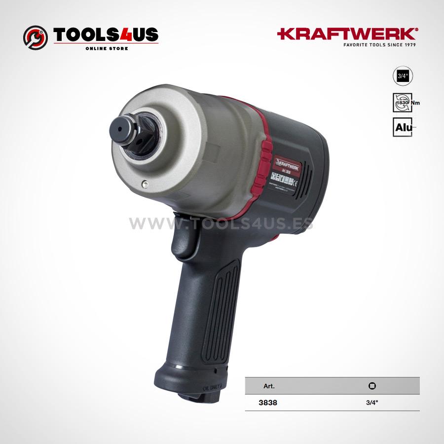 """3838 KRAFTWERK herramientas taller barcelona espana Pistola impacto a bateria 18V Kraftwerk 01 - Pistola neumática industrial de impacto 3/4"""""""