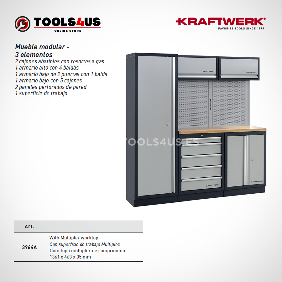 3964A Kraftwerk Mueble Modular Taller 3 Elementos 02 - Mueble Modular Taller 3 Elementos