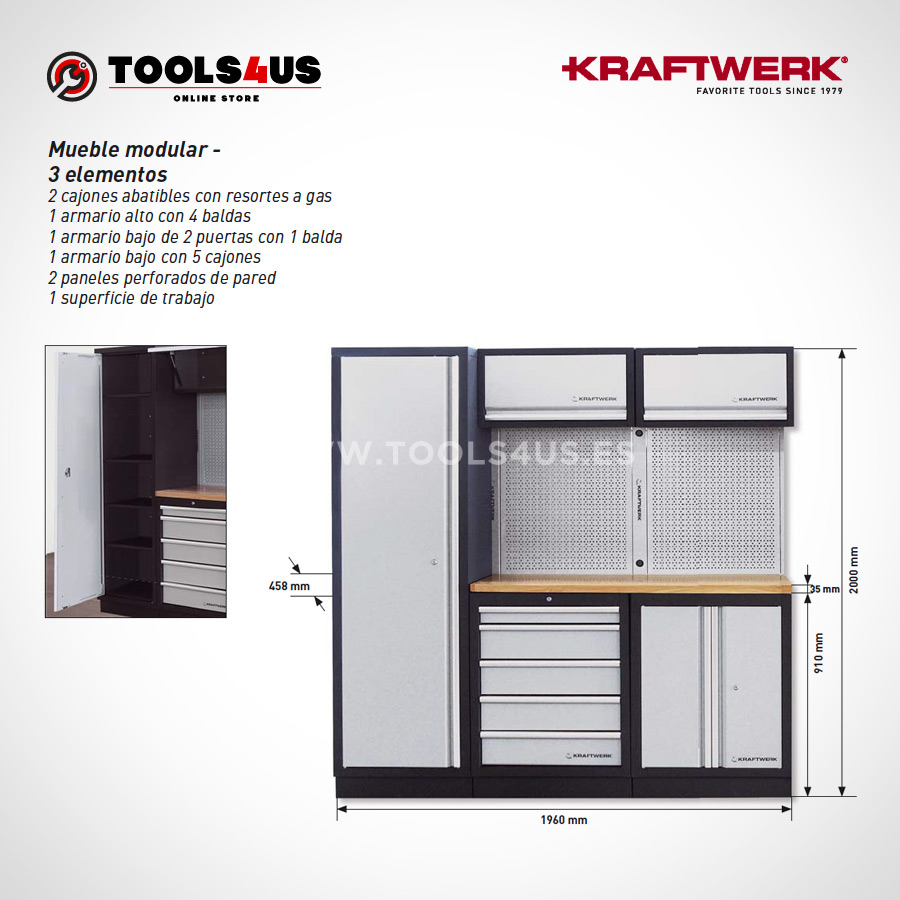 3964A Kraftwerk Mueble Modular Taller 3 Elementos 03 - Mueble Modular Taller 3 Elementos