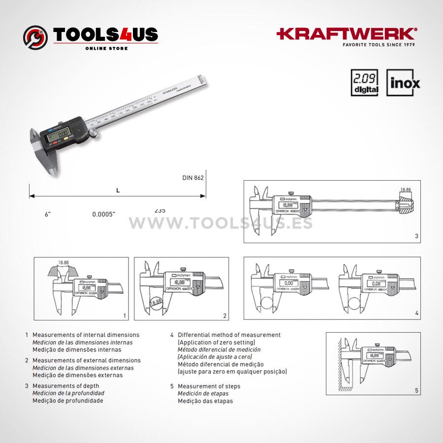 9072 kraftwerk calibre pie de rey digital medicion exacta inox 02  - Calibre / Pie de Rey Kraftwerk Inox Digital