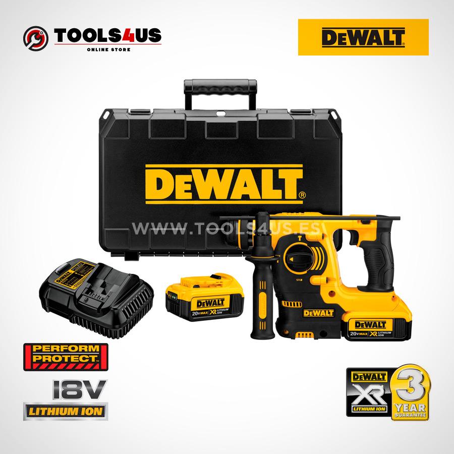 DCH253M2 QW DEWALT martillo electroneumatico a bateria 18v herramientas profesionales 02  - Martillo Electroneumático XR SDS PLUS 18V 2,1J LI-ION 4,0AH DCH253M2