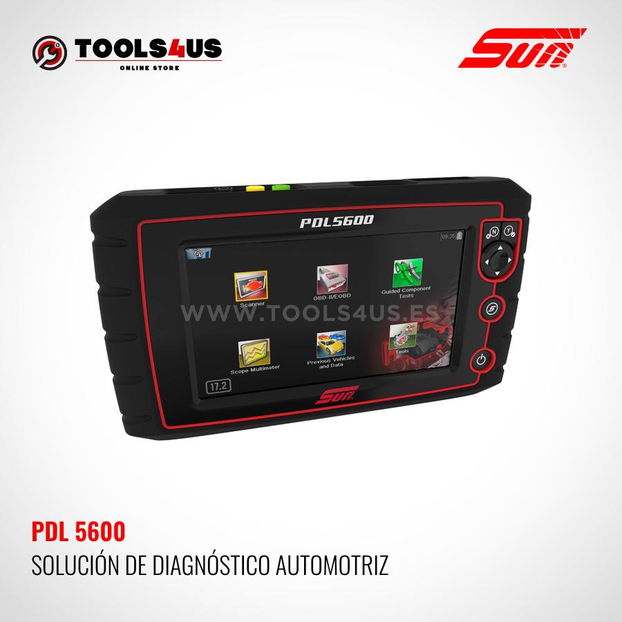 PDL5600 SUN SNAPON herramienta diagnosis general vehiculos taller coches multimarca multimetro osciloscopio - Módulo de Diagnósis PDL 5600 SUN con Multímetro y Osciloscópio