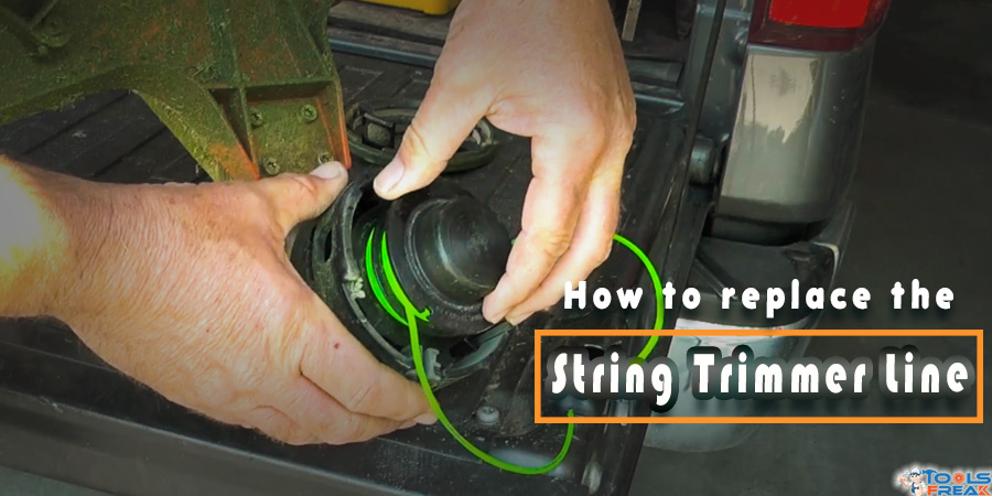 How to replace the string trimmer line