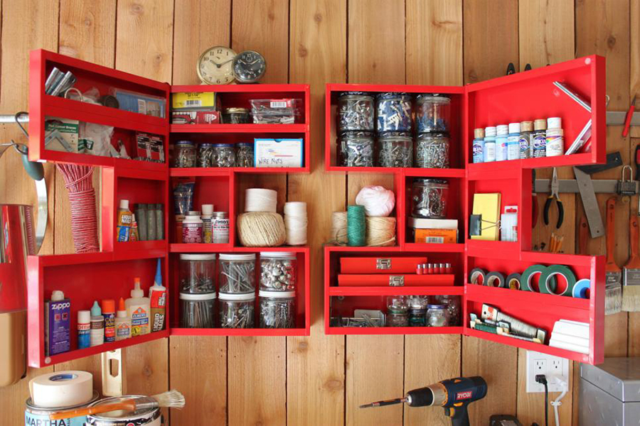 Garage Storage Using Jars