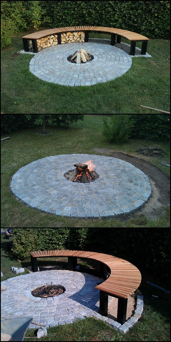 A Firewood Hideaway at Backyard Fire Pit